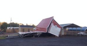 Navarre business area damaged