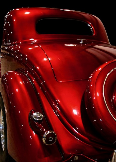 Ford Candy Apple Red Paint