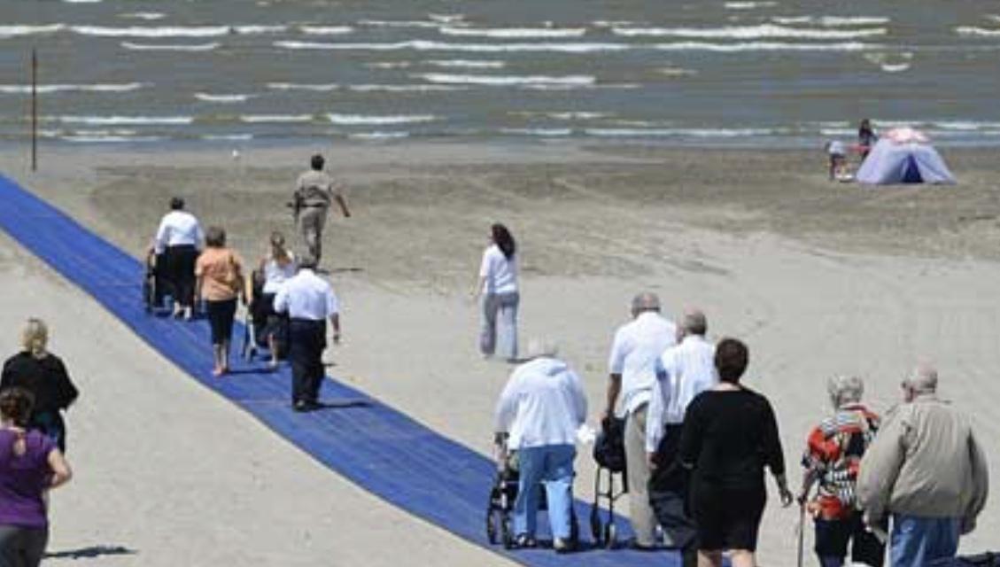 Navarre Beach Wheelchair Mat Navarre Newspaper